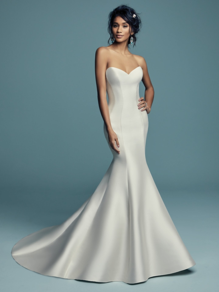 Simple sophisticated mermaid wedding dress by Maggie Sottero - Cassidy gown
