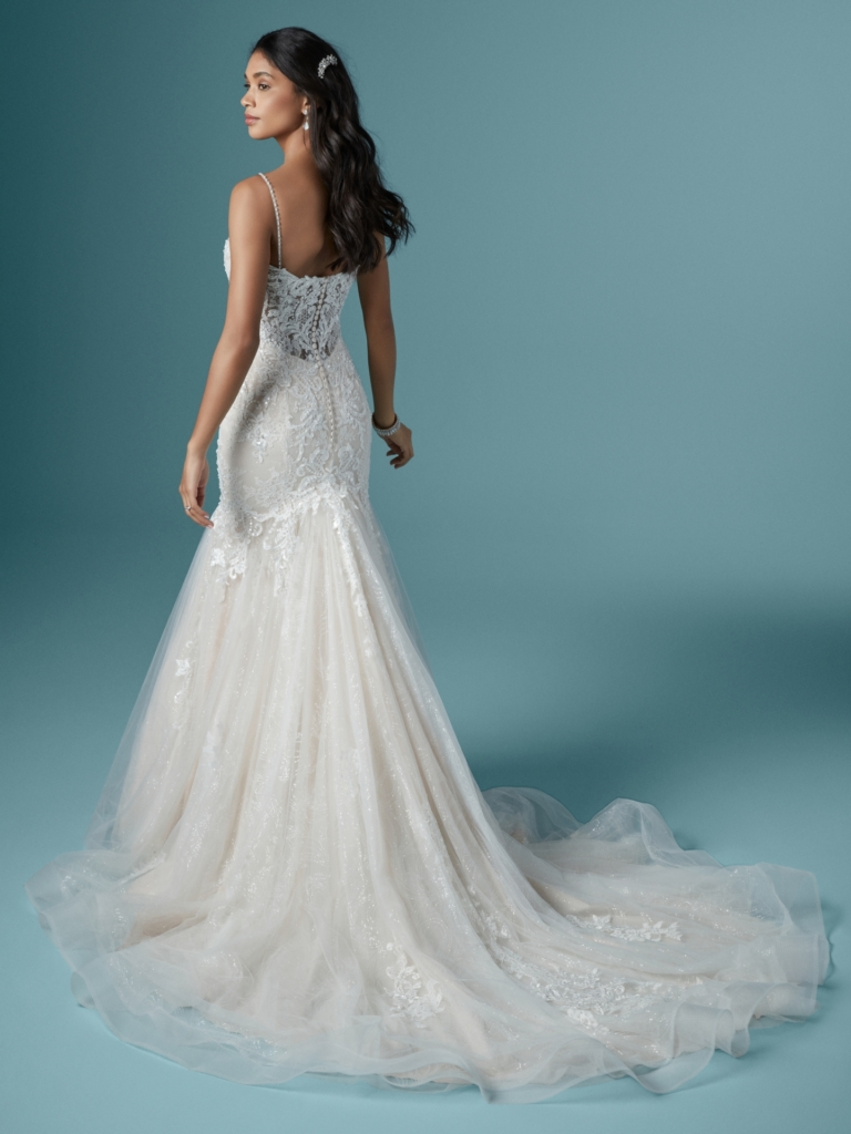 Fit and flare wedding dress by Maggie Sottero - Lonnie