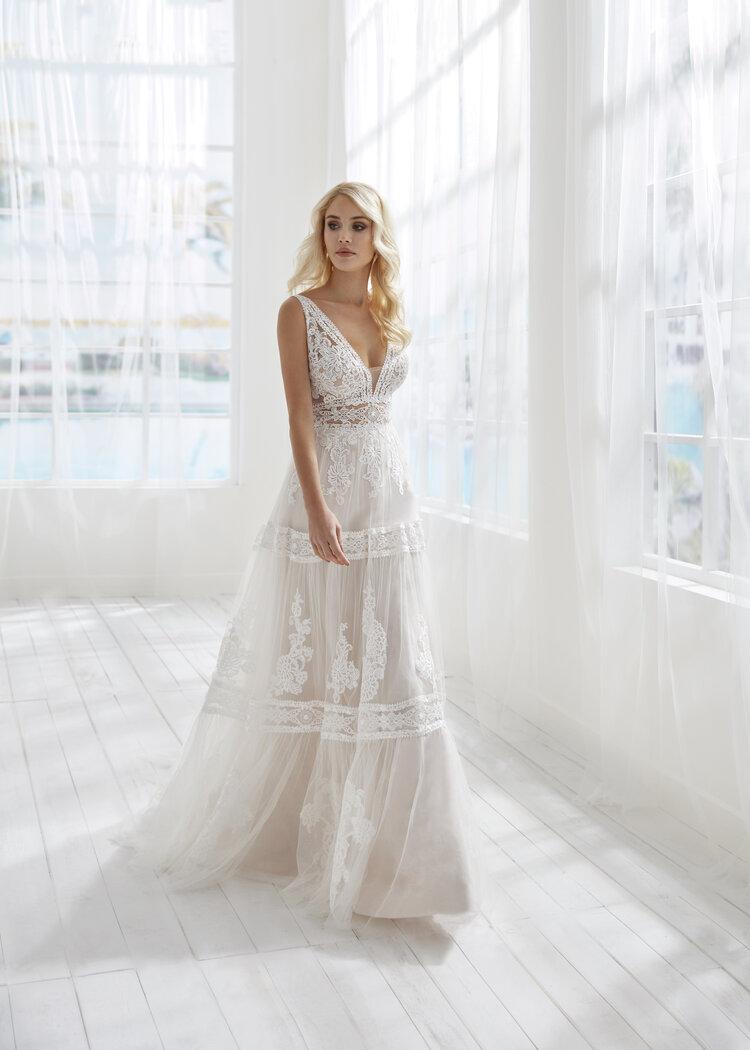 boho a-line wedding dress in myrtle beach